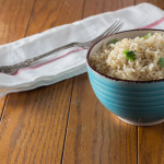 cilantro coconut brown rice is an awesome way to jazz but regular brown rice with the addition of lime, cilantro & coconut oil. Make this today!