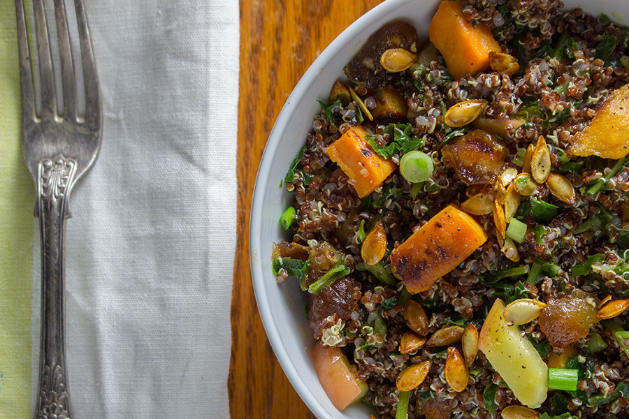 This roasted Butternut Squash Quinoa Salad sounds extra fancy and healthy but most importantly it is ridiculously delicious. Be a salad hero and make it.