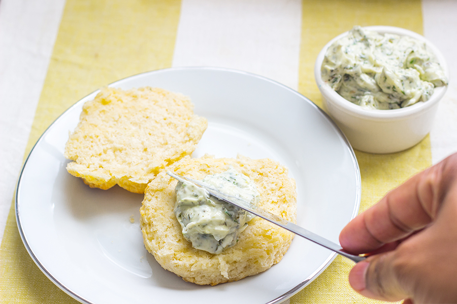 This homemade whipped herb butter or compound butter is one of the easiest ways in add some extra flavor to anything.