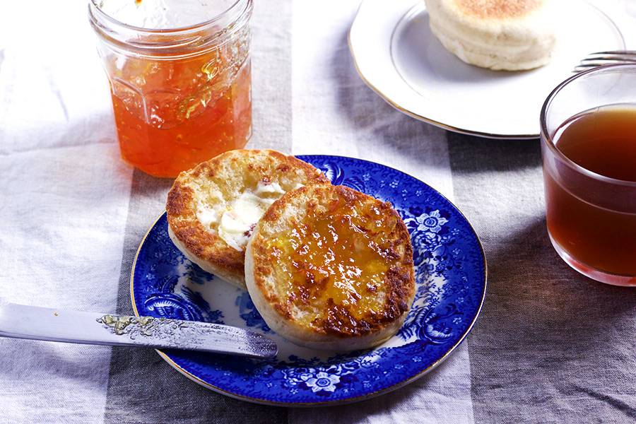 These easy homemade english muffins are soft and chewy, when you toast them with butter and your favorite jam. Have one just isn't an option.