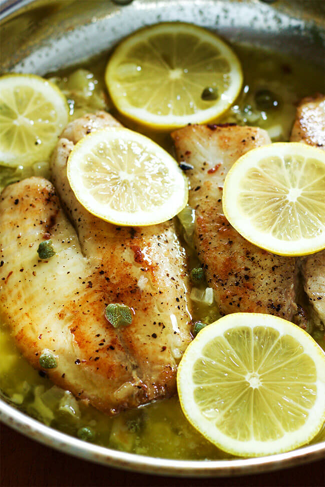 Tilapia with lemon caper sauce is one of those recipes that you have to try. the sauce gives the fish a extra punch of bold flavors.