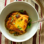Vegetarian Moussaka is a play on the traditional Greek dish. It is saucy. It is packed full of vegetables. It is filling. It is a must try!!