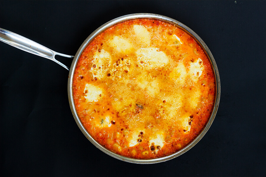 This Gnocchi in Spicy Roasted red pepper and tomato sauce is creamy, tangy and lusciously tasty!