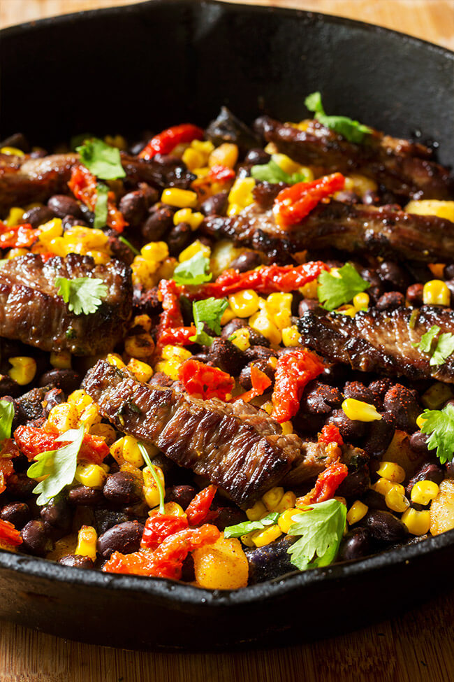 Southwest steak skillet hash is an awesome way to use pantry staple in a dish. It is a little spicy, a little creamy, a little tangy and a whole lot of yum. Super easy and extremely customizable.