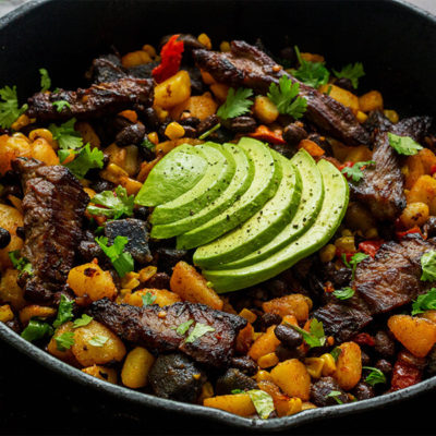 Southwest Steak Skillet Hash