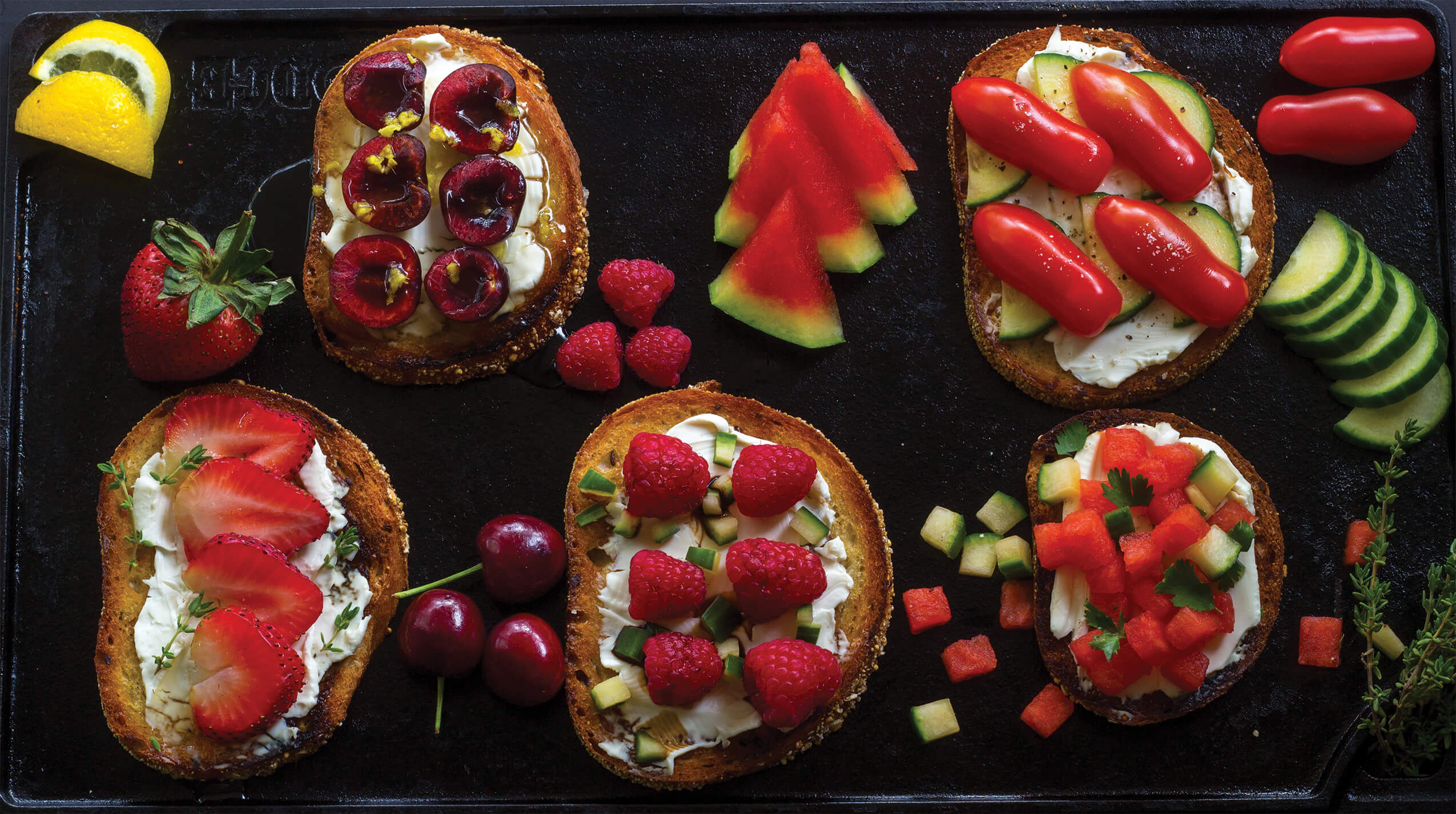 This summer fruit toast recipe is truly as simple as it sounds. I love summer fruits. Everything seems juicer and more flavorful in the summer months. So mix and match all you want. Just have fun with it!