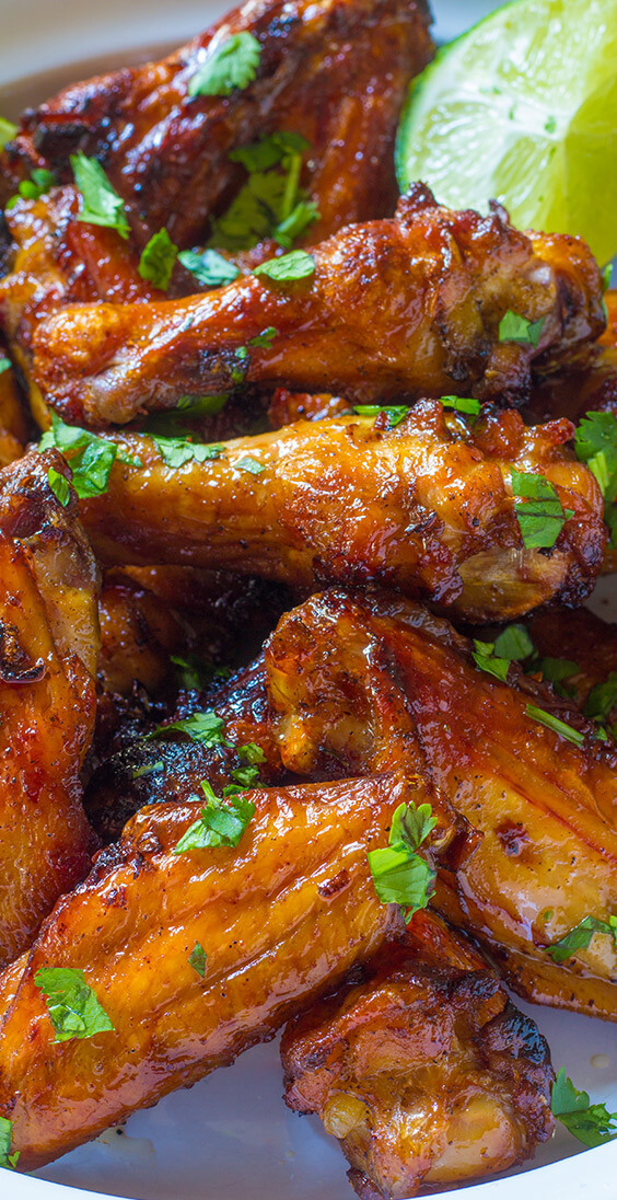 Cilantro lime chicken wings are full of flavor, a healthier option and super easy clean up. You will love this recipe: it's fast, easy, and flavorful.