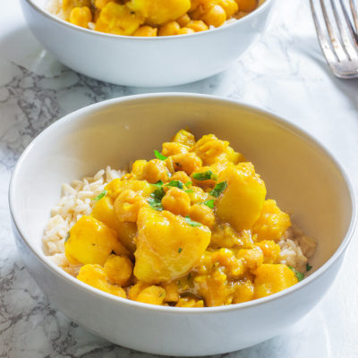 Slow Cooker Chickpeas and Potato Curry