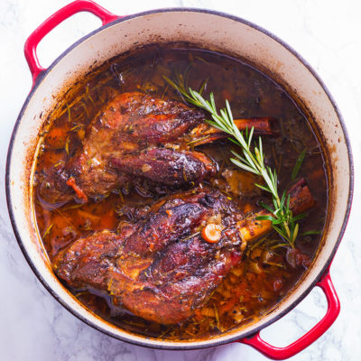 Slow Braised Lamb Shanks