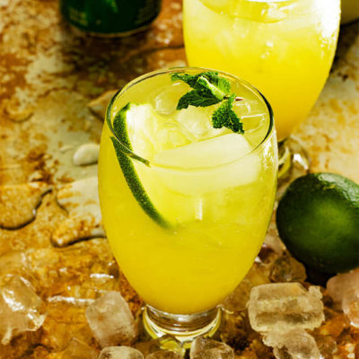 Simple and Delicious Pineapple Ginger 7UP Punch Recipe is both bright and refreshing.