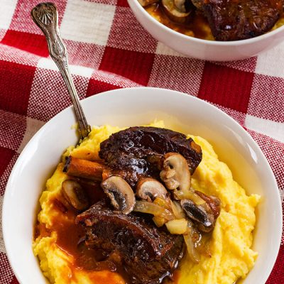 Slow Cooker Short Ribs with Butter Polenta