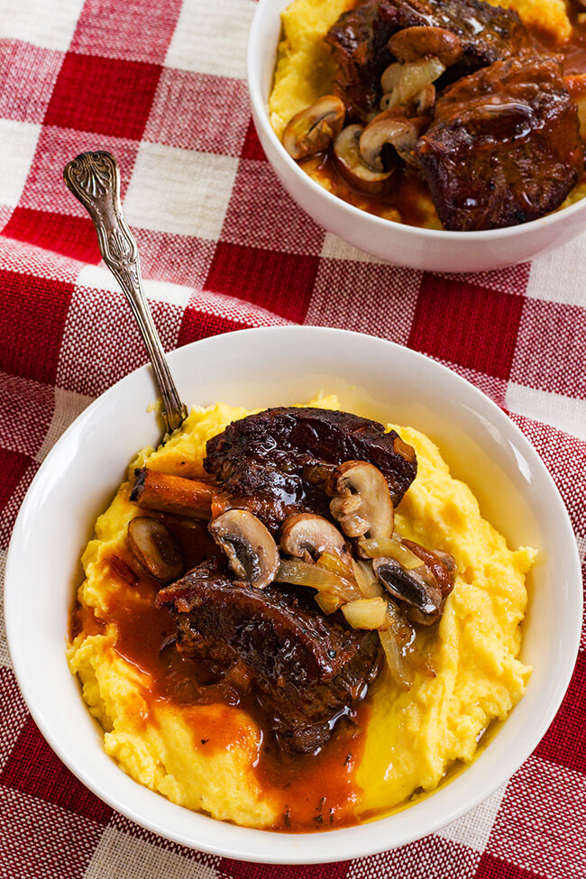 This slow cooker short ribs recipe is so easy to make and full of rich flavors. And did I mention it is basically a toss and go recipe. Win win win!