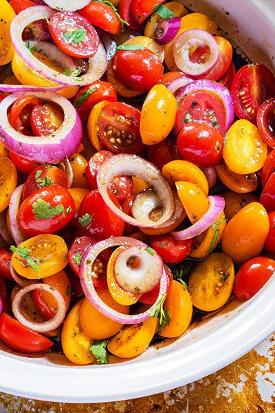 Balsamic Tomato and Onion Salad