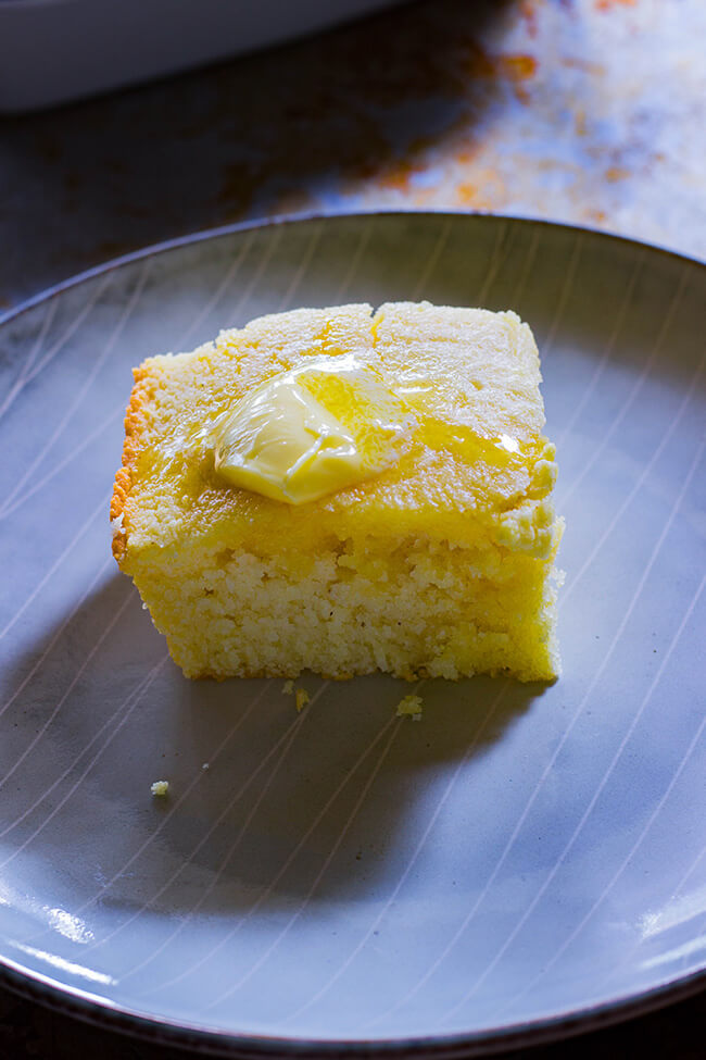 This is my grandma's sweet cornbread recipe that is a family favorite at every family dinner. Slightly sweet and incredibly moist- super easy to make.