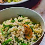 This budget-friendly summer mushroom asparagus barley salad with lemon dill dressing recipe- just screams bright and light and delicious.