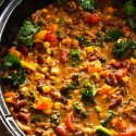 Slow- Cooker Jerk Turkey Chili