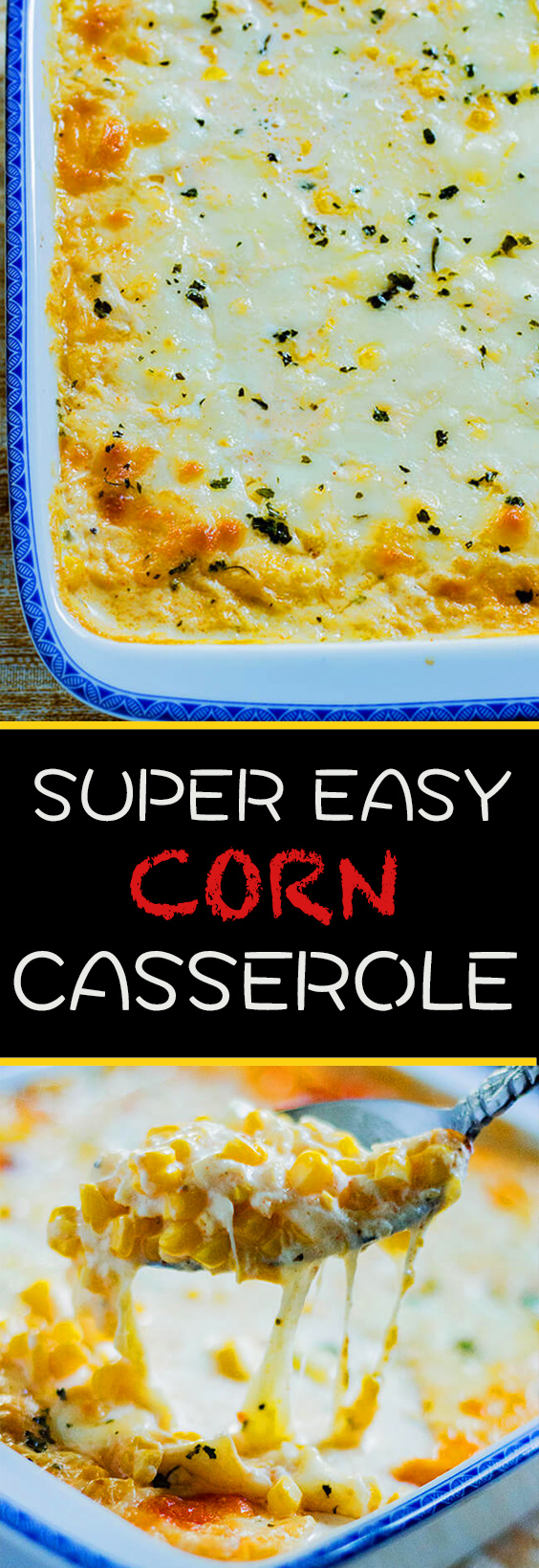 This 4 Ingredient Corn Casserole recipe is so good you'll want to scrape the dish clean to get every last bit. It has fresh corn with cream & tangy cheese.
