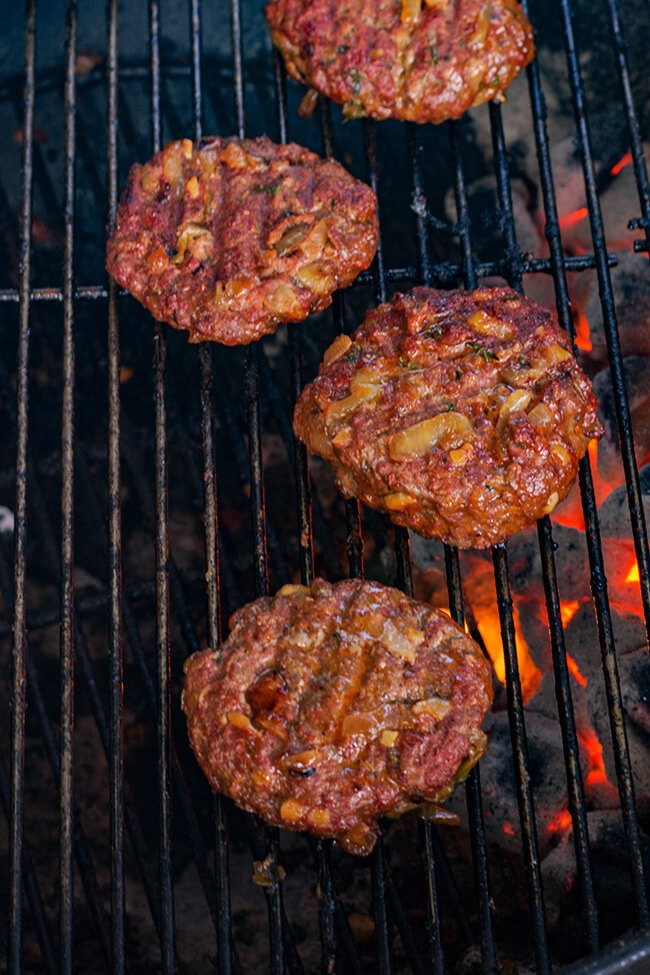 This cream cheese stuffed burger is the perfect grilled burger. It has everything- the perfectly charred crust to the juicy interior that is full of flavor. Make it today and enjoy!
