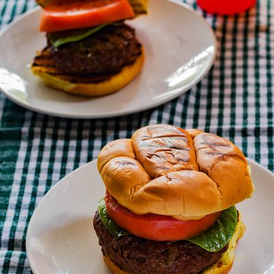 Cream Cheese Stuffed Burger