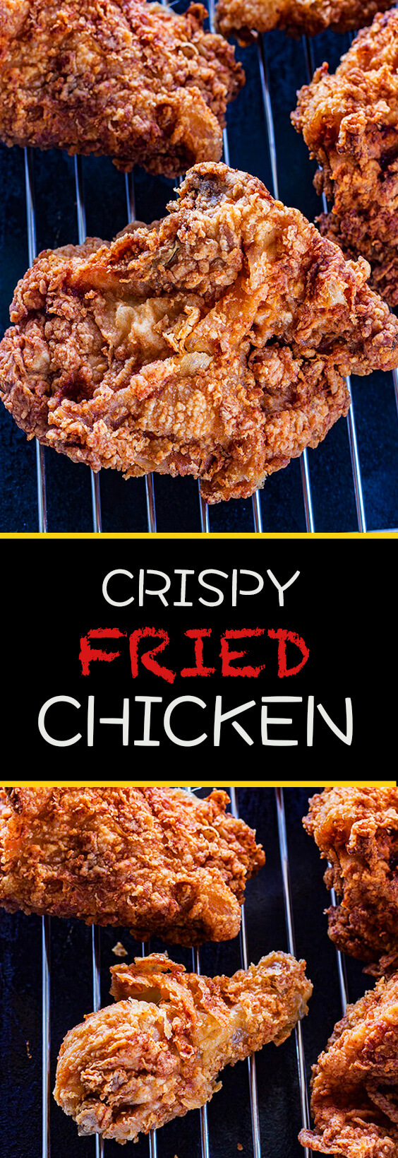 This crispy fried chicken recipe is a picnic favorite. Easy enough for weeknight dinners or Sunday get togethers. Wonderfully crisp and perfectly seasoned. Make it and love it!