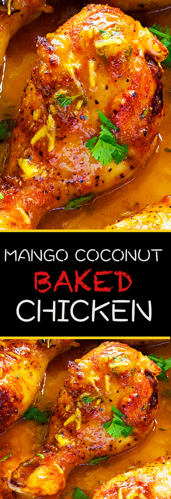 This Mango coconut habanero sauce is the perfect balance of spicy, sweet and tangy for this super easy chicken recipe.