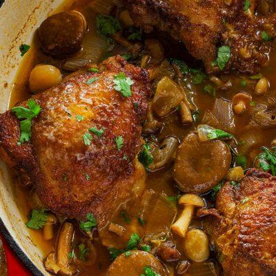 Mushroom and Onion Chicken