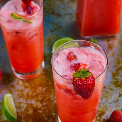 Strawberry Coconut Limeade