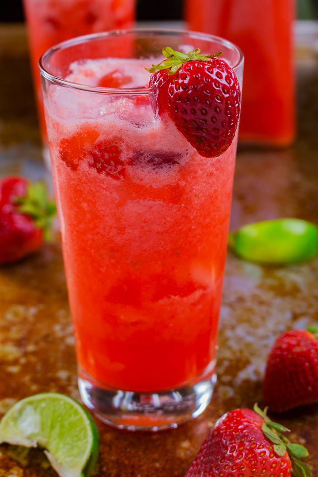 This strawberry coconut limeade recipe is the perfect drink for warm summer days. Make this delightfully refreshing drink today.