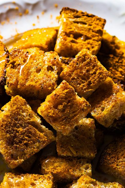 Curry Croutons