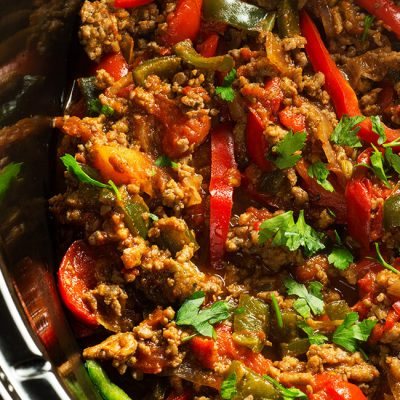Slow Cooker Turkey Fajita