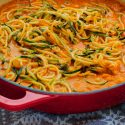 Zoodles with Red Pepper Sauce