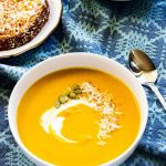 Creamy Sweet Potato Pumpkin Soup is perhaps the perfect fall and winter night dinner. So very simple to cook with little prep time.