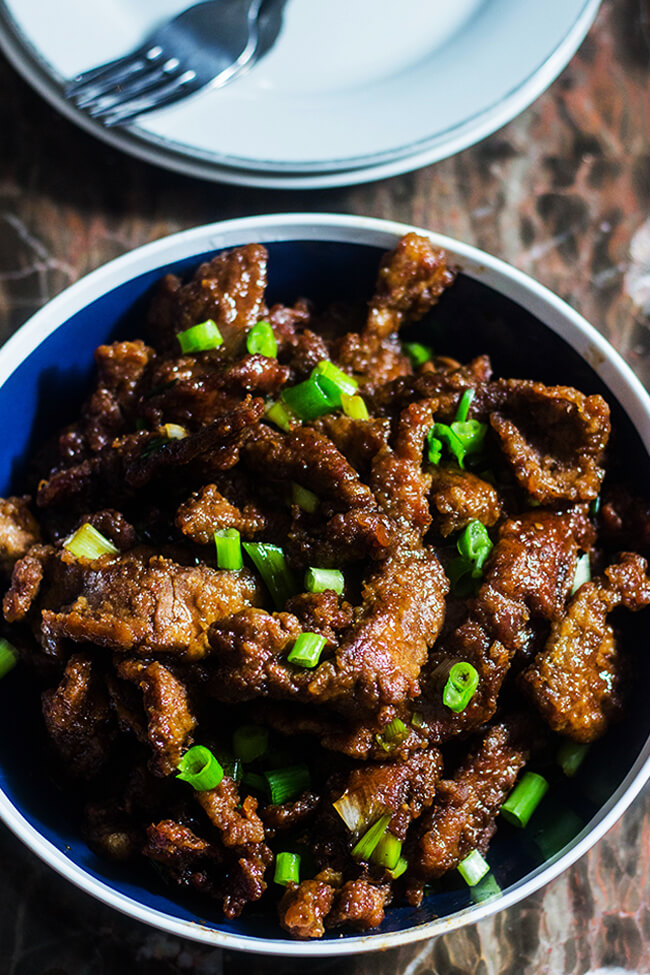 Homemade 20 Minute Mongolian Beef recipe is so easy to make! Tender pieces of beef coated in a sweet and salty sauce.