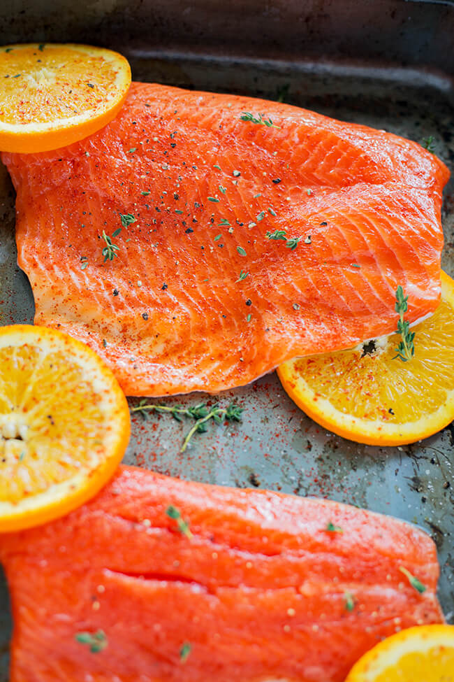 This recipe has a naturally sweet and super flavorful glaze that helps to create this super easy Orange Sesame Salmon. So super easy and simple to prepare- oh and it is ready in under 30 minutes!