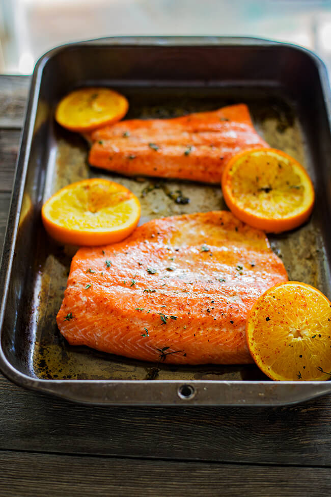 This recipe has a naturally sweet and super flavorful glaze that helps to create this super easyOrange Sesame Salmon. So super easy and simple to prepare- oh and it is ready in under 30 minutes!
