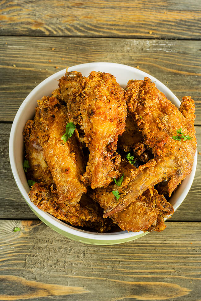 This recipe makes the perfect crispy but juicy fried chicken wings every single time. Perfect for a party or for a fun Friday night dinner.