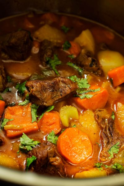 This classic stick-to-your-ribs Instant Pot Classic Beef Stew is the ideal meal for a chilly weekend to cozy up with a bowl and dare I say- you can sop up the remnants with some freshly made biscuits.